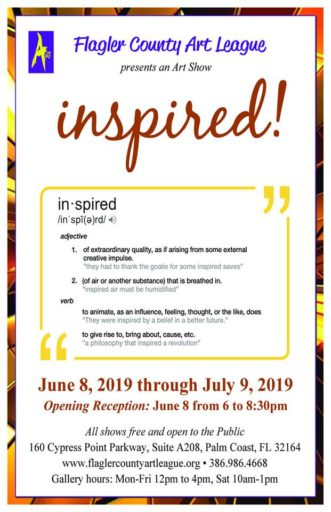 Opening Reception: Inspired! @ Flagler County Art League
